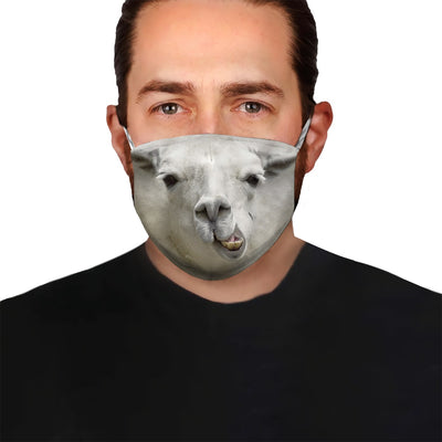 Adorable Llama EZ08 1504 Face Mask - Hyperfavor