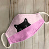Cute Hidden Cat Pink EZ07 1704 Face Mask - Hyperfavor