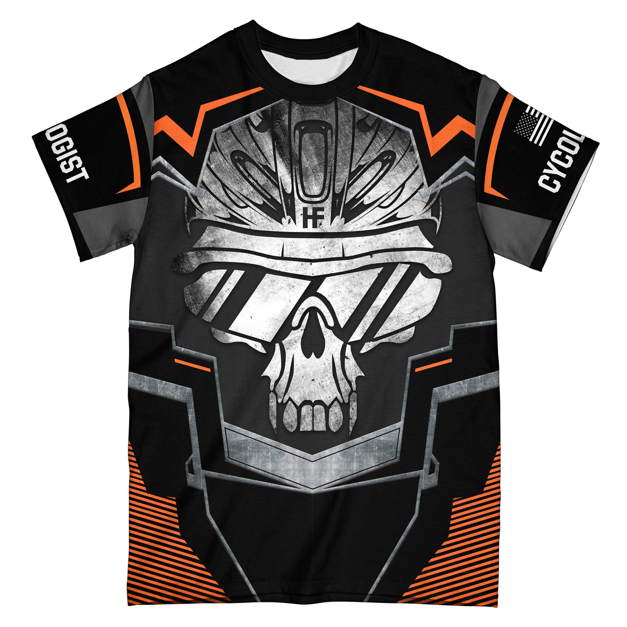 Cycling Skeleton EZ05 0810 All Over T-Shirt