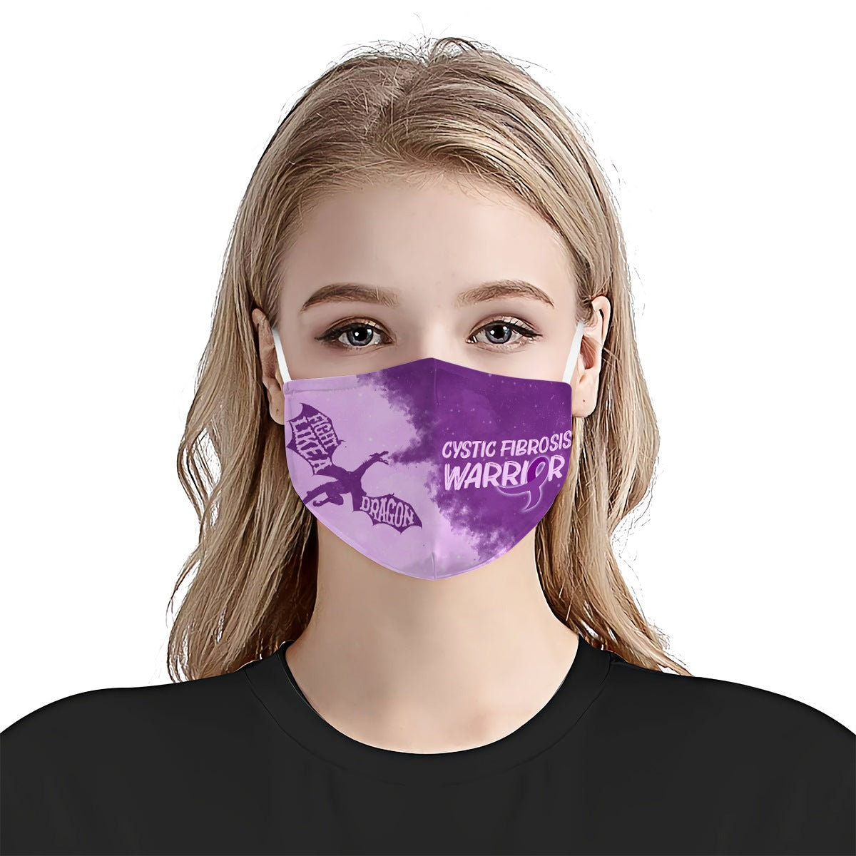Cystic Fibrosis Awareness Fight Like A Dragon EZ01 1804 Face Mask - Hyperfavor