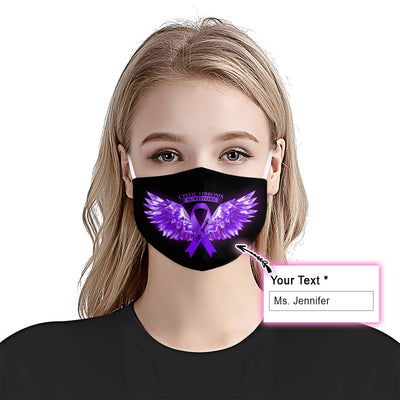 Cystic Fibrosis Awareness Wings EZ10 2005 Custom Face Mask - Hyperfavor