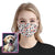 Dog, Heart and Bone Pattern EZ00 1105 Custom Face Mask