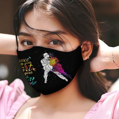 Cuban Rumba Dance With Your Hear And Your Feet Will Follow B Colorful Galaxy EZ05 2605 Face Mask - Hyperfavor