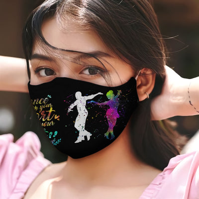 Mambo Dance With Your Hear And Your Feet Will Follow B Colorful Galaxy EZ05 2605 Face Mask - Hyperfavor