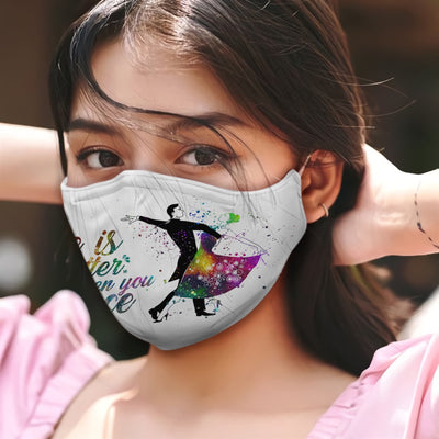 Waltz Life Is Better When You Dance W Colorful Galaxy EZ05 2605 Face Mask - Hyperfavor