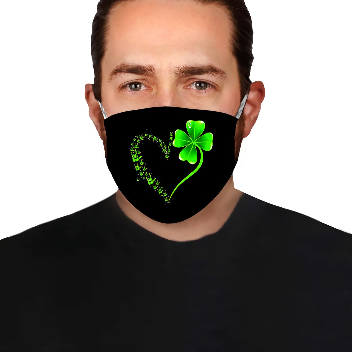 Deaf Awareness Green Clover EZ07 2504 Face Mask - Hyperfavor