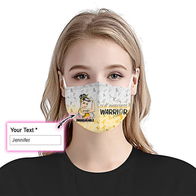 Deaf Unbreakable Girl EZ09 2205 Custom Face Mask - Hyperfavor