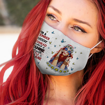 December Queen Redhead Three Side White EZ06 1505 Face Mask - Hyperfavor