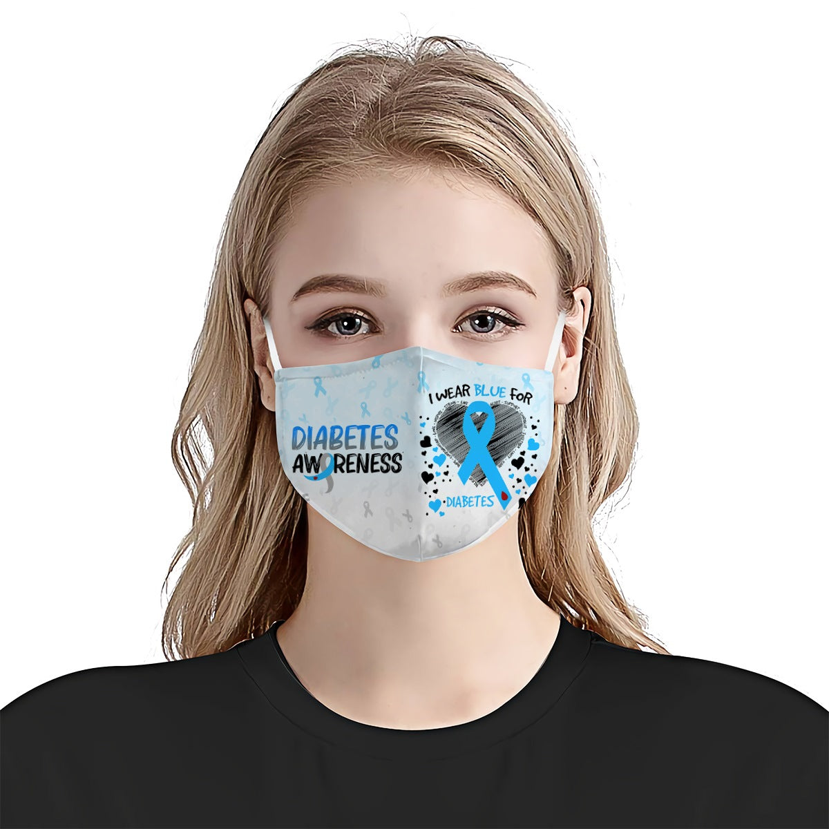 Diabetes Awareness I Wear EZ10 0405 Face Mask - Hyperfavor