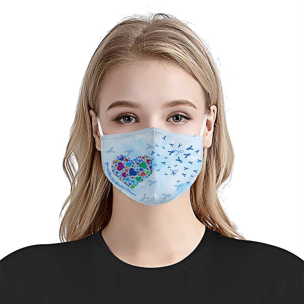 Diabetes Heart Spreading EZ10 0405 Face Mask - Hyperfavor