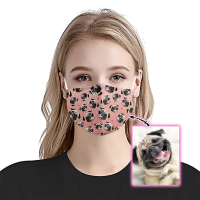 Premium Dog Pattern Rose Gold EZ09 2305 Custom Face Mask - Hyperfavor
