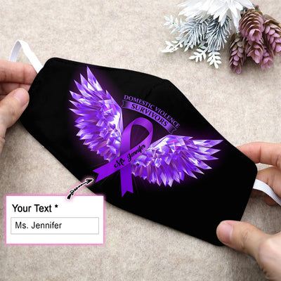 Domestic Violence Awareness Wings EZ10 2005 Custom Face Mask - Hyperfavor