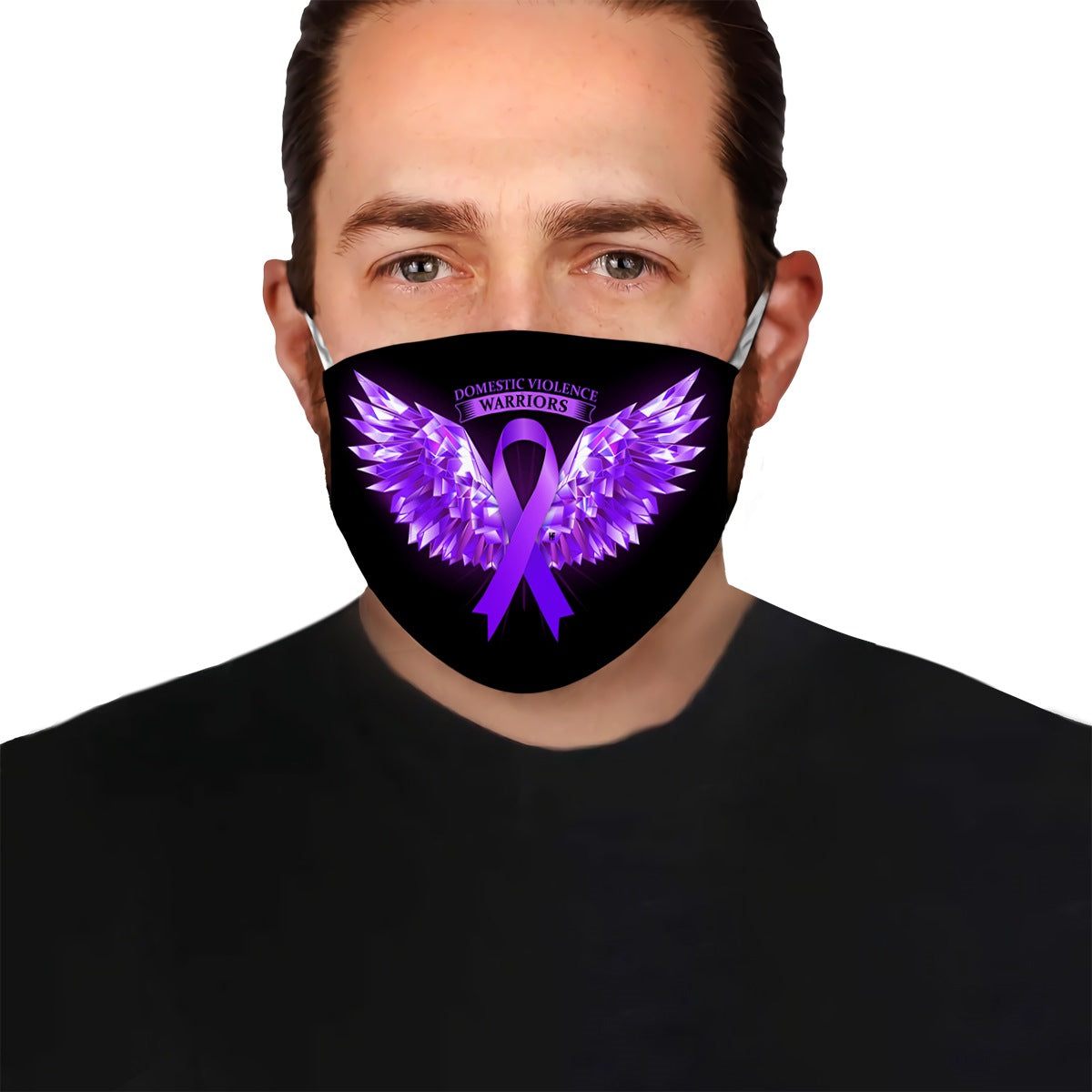 Domestic Violence Warriors Angel Wings  EZ10 0405 Face Mask - Hyperfavor