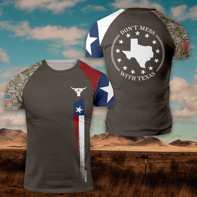 Dont Mess With Texas Camo EZ20 0401 All Over Print T-Shirt - Hyperfavor