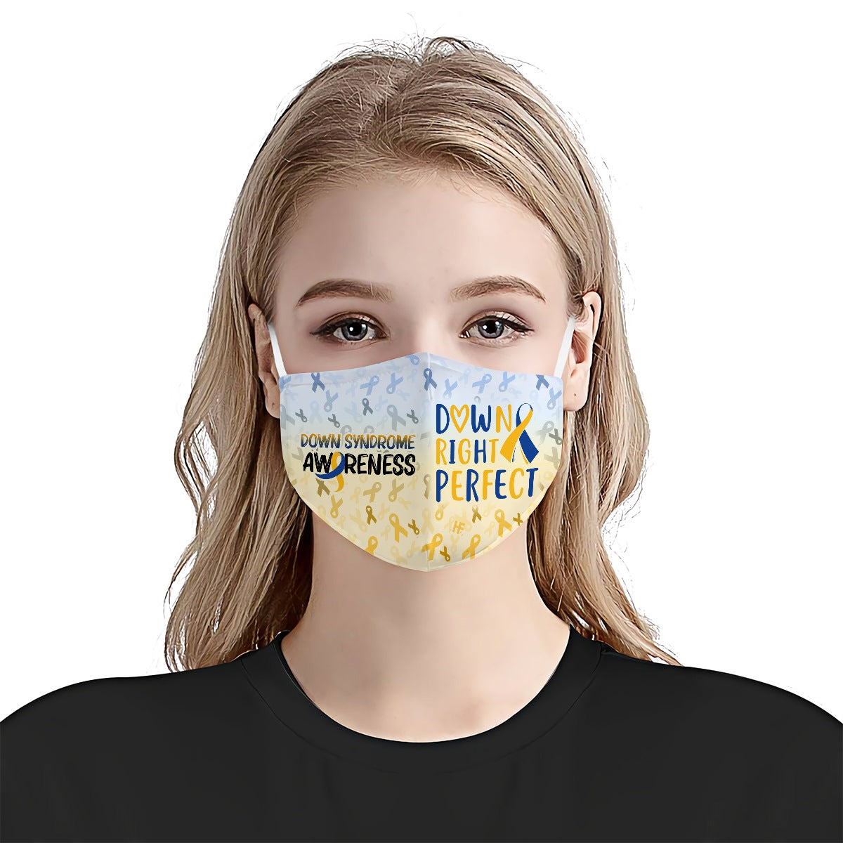 Down Right Perfect Down Syndrome Awareness EZ06 2204 Face Mask - Hyperfavor