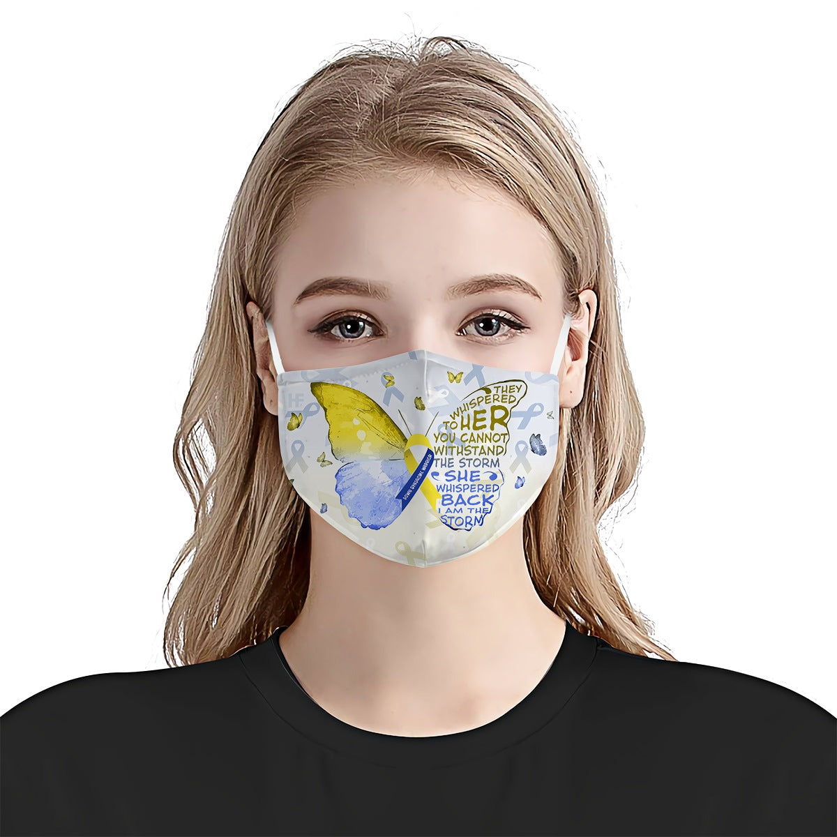 Down Syndrome Awareness Butterfly EZ03 2504 Face Mask - Hyperfavor