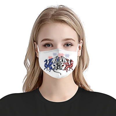 Dragon 4th Of July EZ01 1405 Face Mask - Hyperfavor