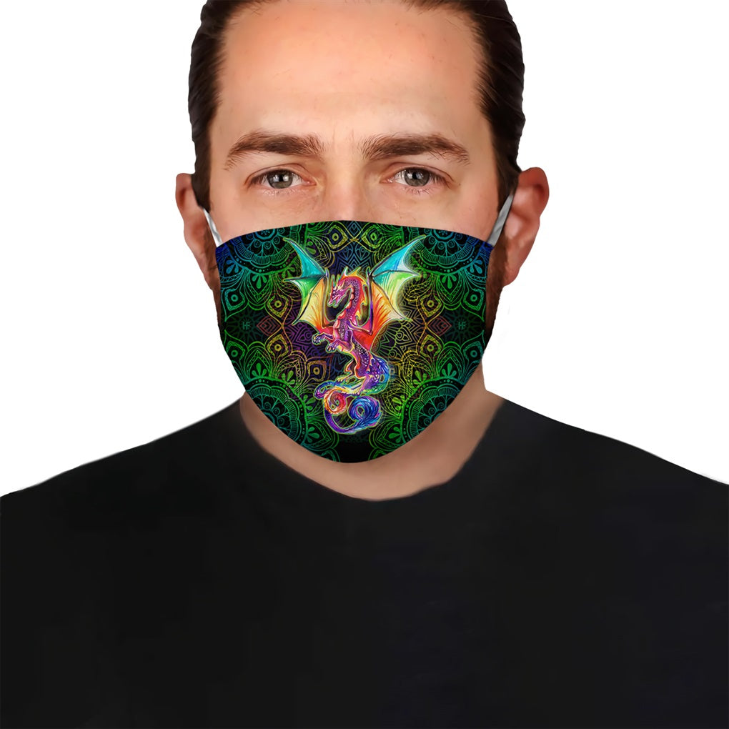 Dragon Mandala EZ05 2504 Face Mask - Hyperfavor