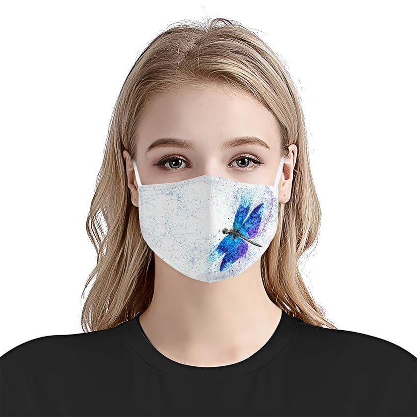 Dragonfly Watercolor EZ10 2004 Face Mask4 - Hyperfavor