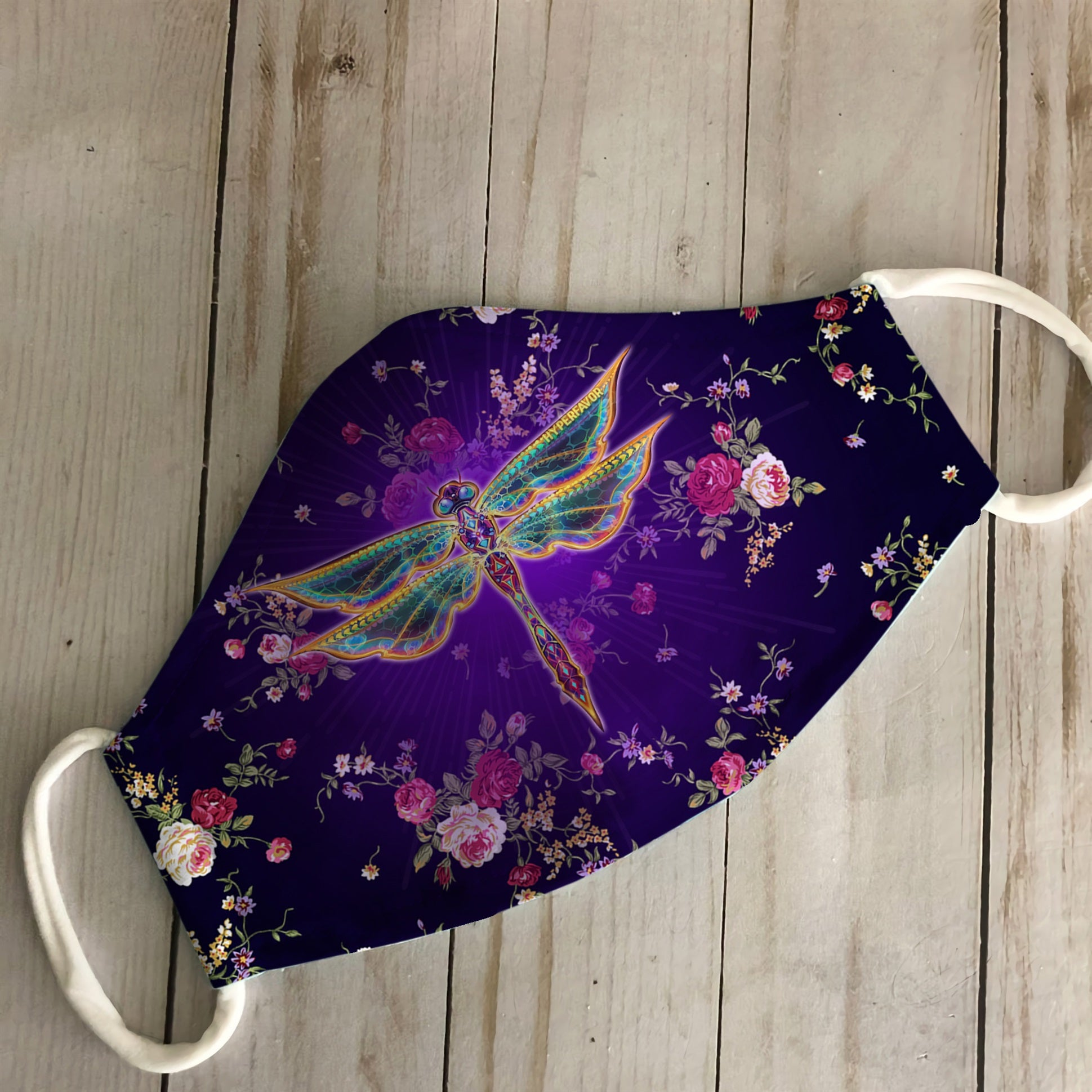 Dragonfly with flower all prints 6 EZ16 0206 Face Mask - Hyperfavor