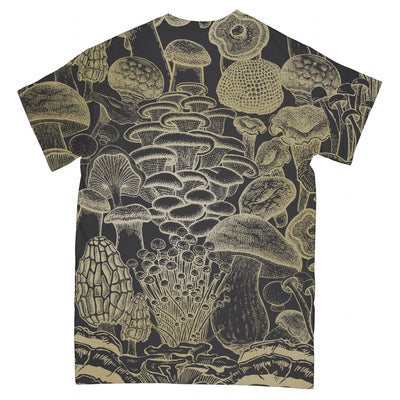 Edible Mushroom Gold Collection EZ01 2403 All Over T-shirt - Hyperfavor