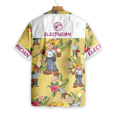 Electrician EZ15 1708 Hawaiian Shirt - Hyperfavor