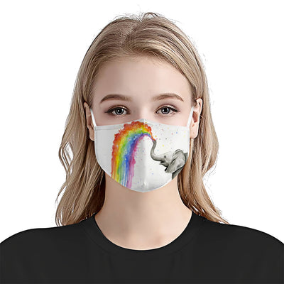 Premium Elephant Rainbow EZ05 1704 Face Mask 3 - Hyperfavor