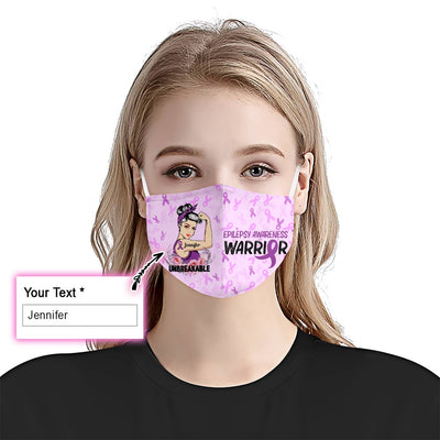 Epilepsy Unbreakable Girl EZ09 2205 Custom Face Mask - Hyperfavor