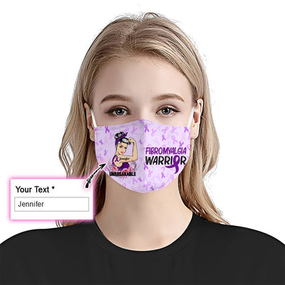 Fibromyalgia Unbreakable Girl EZ09 2205 Custom Face Mask - Hyperfavor