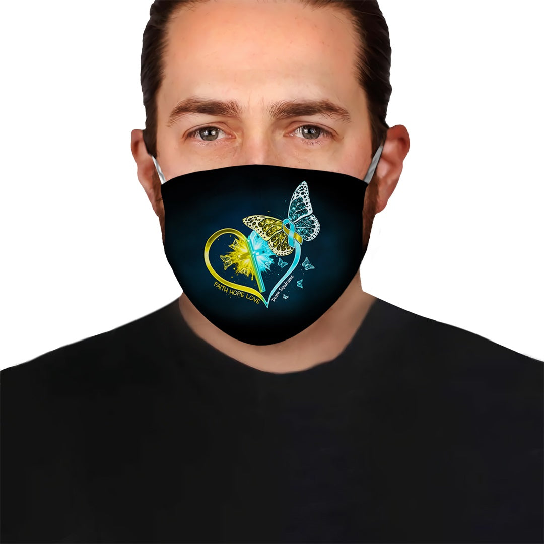Down Syndrome Awareness Fight With Us EZ10 2804 Face Mask - Hyperfavor