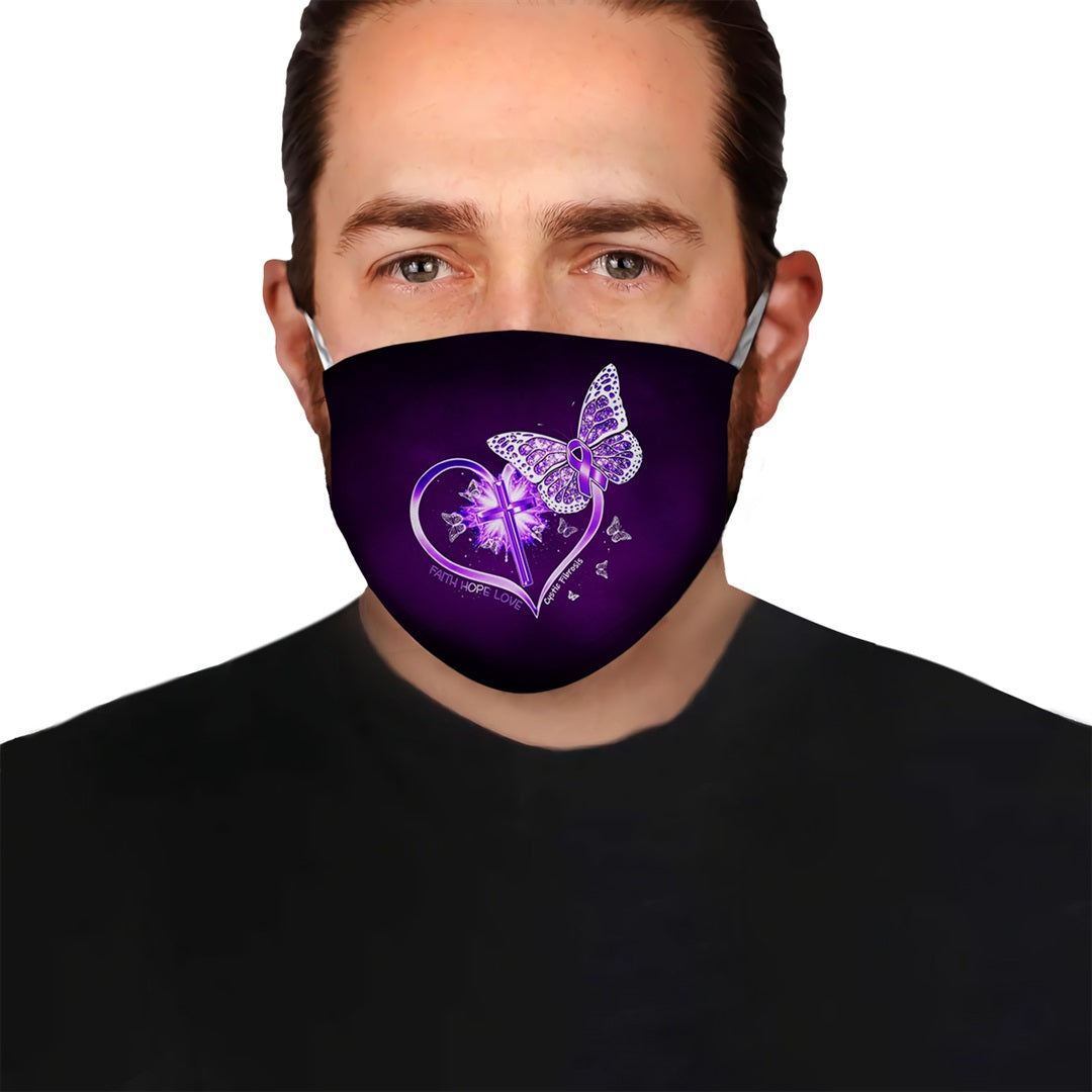 Cystic Fibrosis Awareness Fight With Us EZ10 2804 Face Mask - Hyperfavor