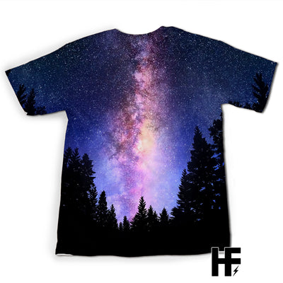 Galaxy Forest Wolf Night EZ09 1403 All Over T-shirt - Hyperfavor