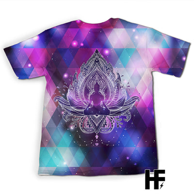 Geometry Galaxy Buddha Lotus EZ05 0903 All Over T-Shirt - Hyperfavor