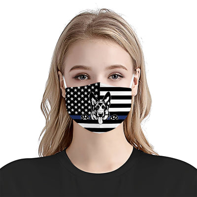 German Shepherd American Flag Police 1 EZ07 1804 Face Mask - Hyperfavor