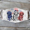 Golden Retriever 4th Of July EZ01 1405 Face Mask - Hyperfavor