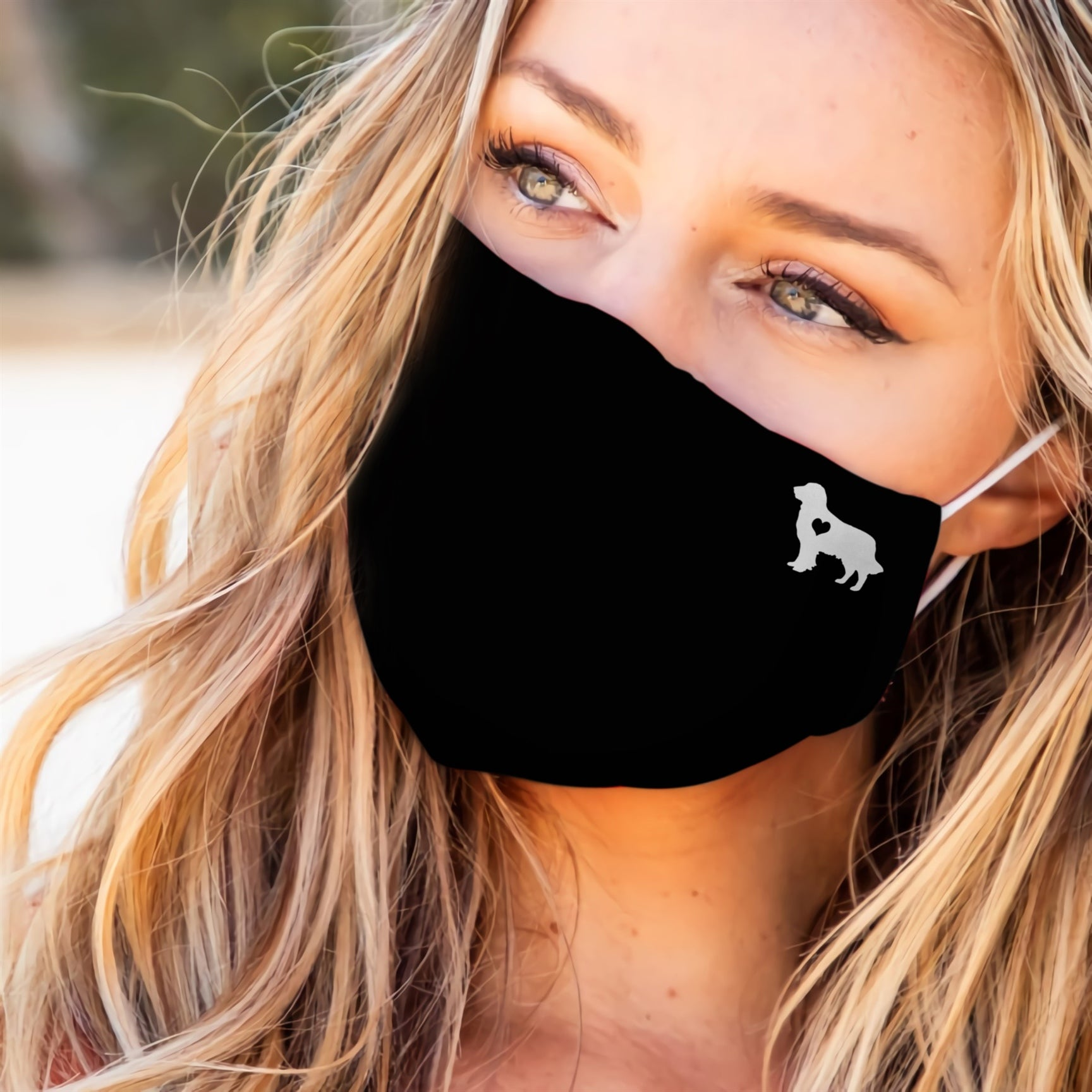 Golden Retriever Heart EZ07 2707 Face Mask - Hyperfavor