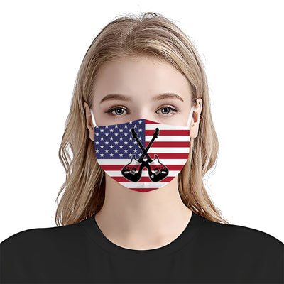 Guitar Shut Up EZ10 1504 Face Mask flag - Hyperfavor