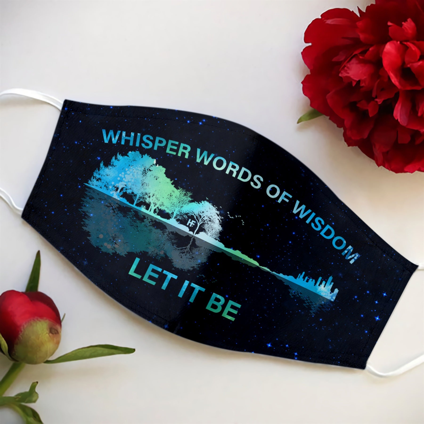 Guitar Whisper Words Of Wisdom Let It Be EZ08 3107 Face Mask - Hyperfavor