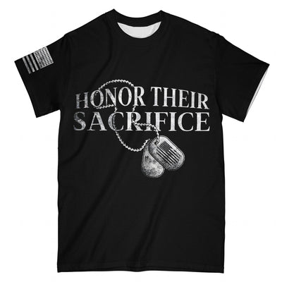 HONOR THEIR SACRIFICE EZ16 2008 All Over T-Shirt - Hyperfavor