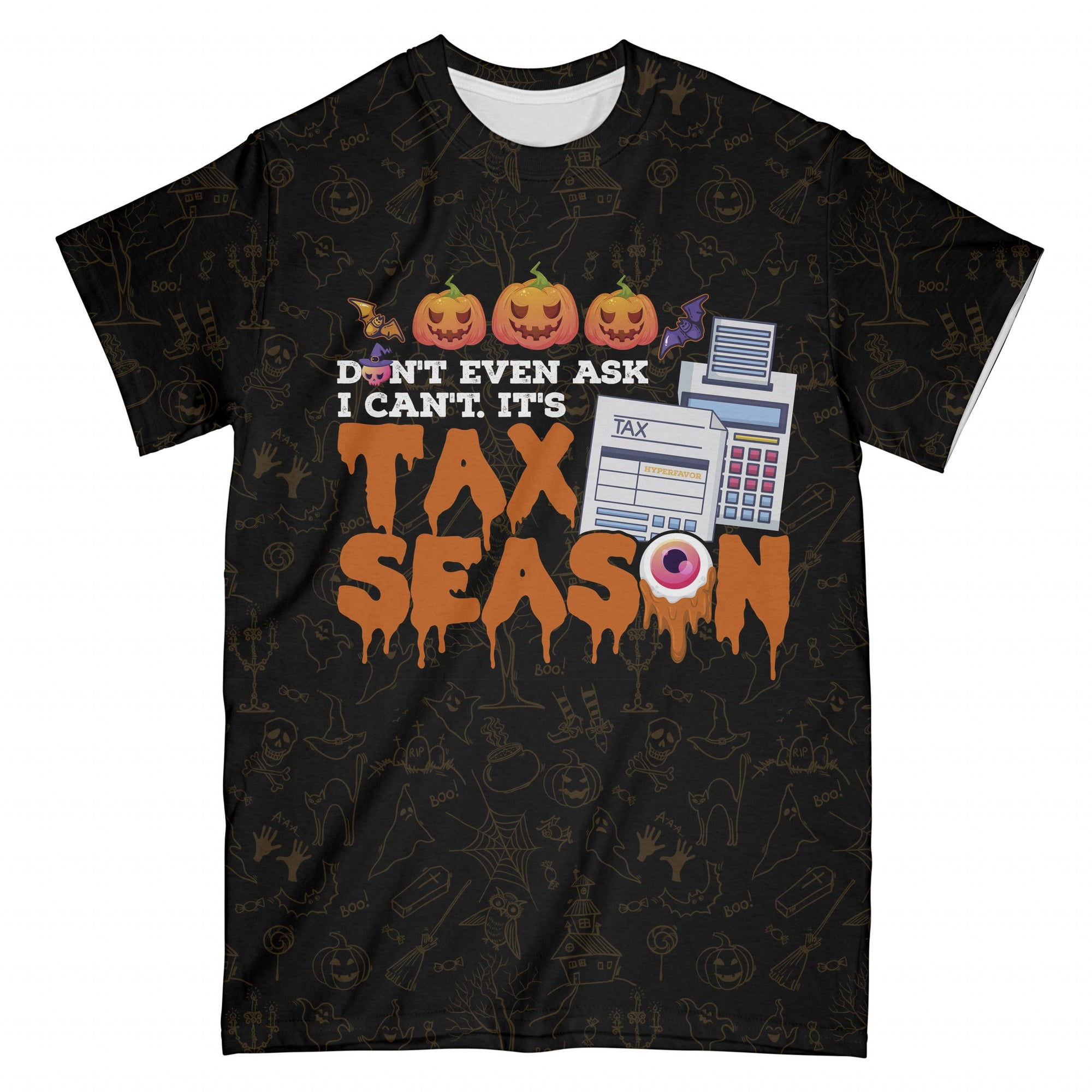 Halloween Accountant Tax Season EZ09 2808 All Over T-Shirt - Hyperfavor
