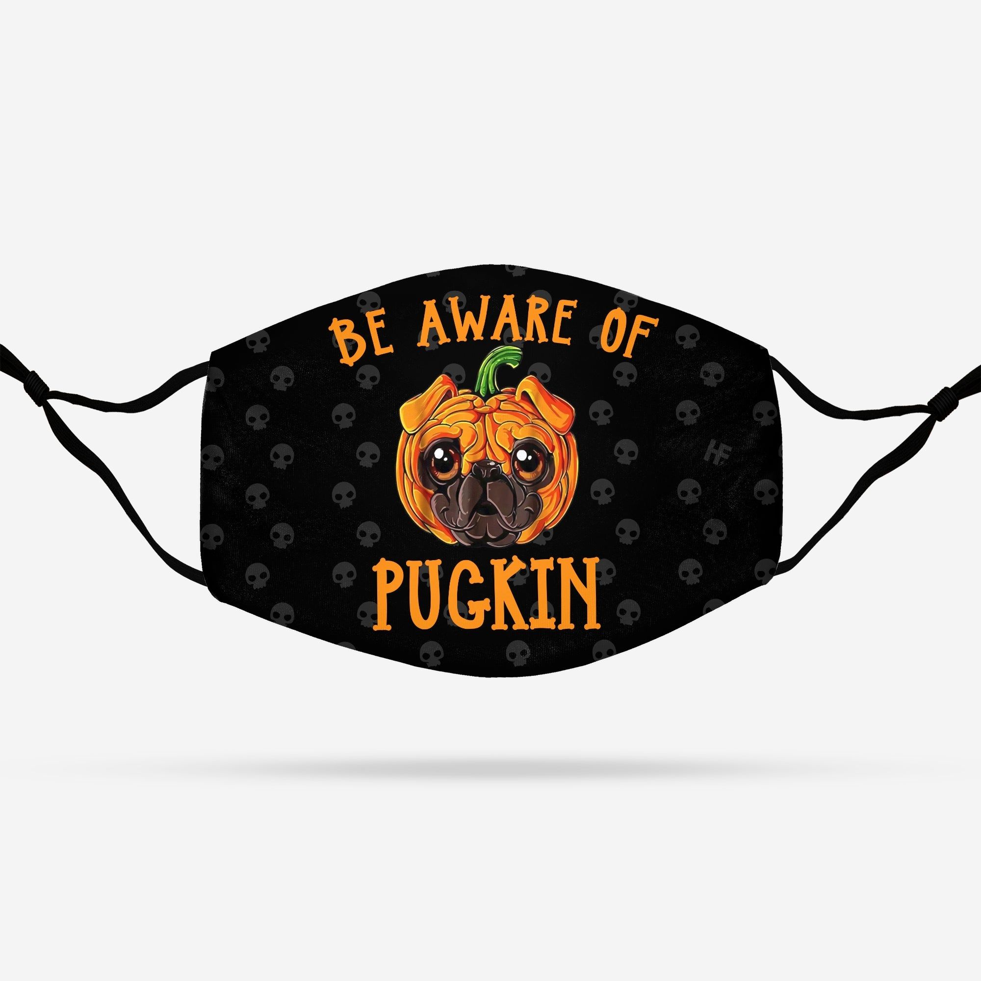 Halloween Be Aware of Pugkin EZ20 2608 Face Mask - Hyperfavor