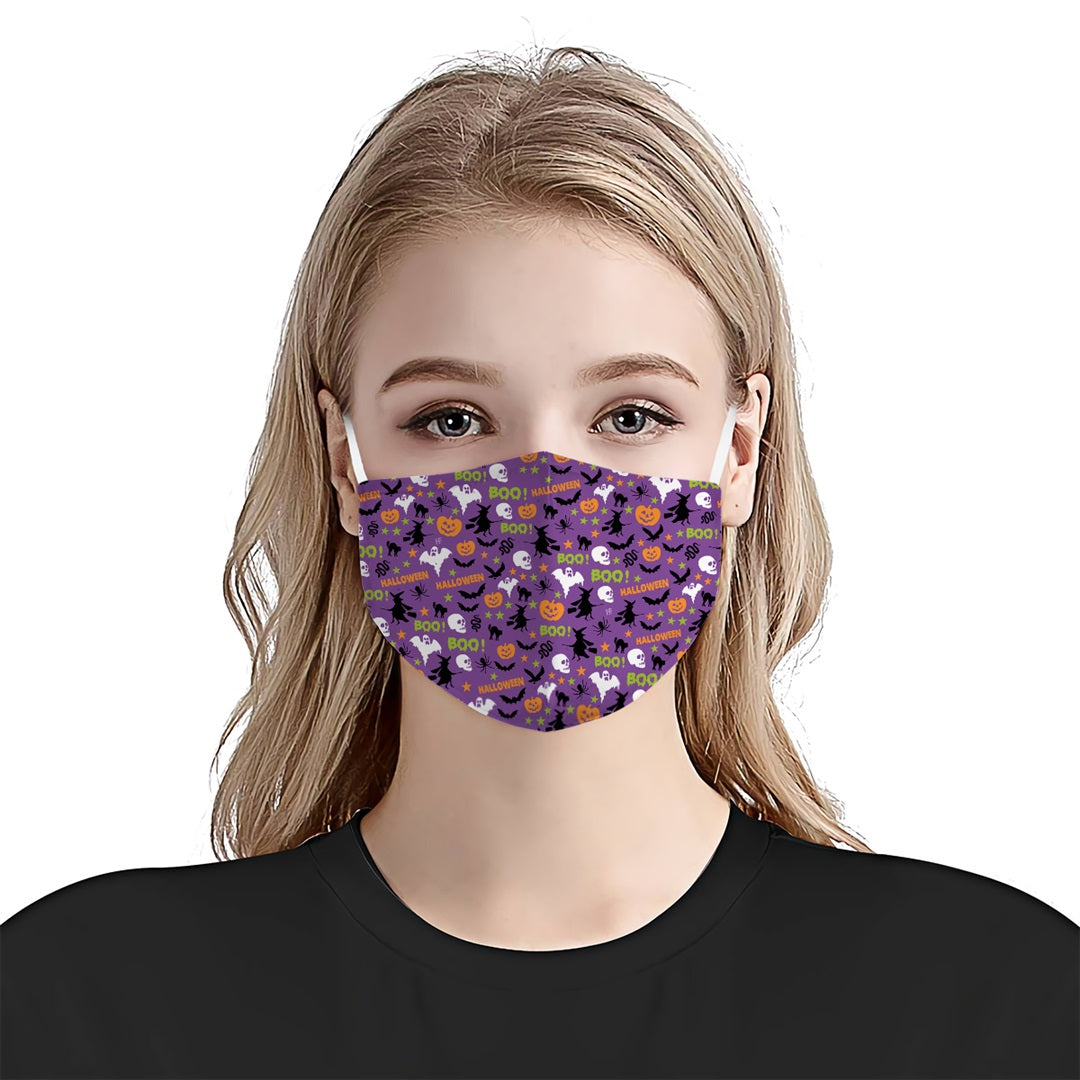 Halloween Boo Pumpkin EZ03 1308 Face Mask - Hyperfavor