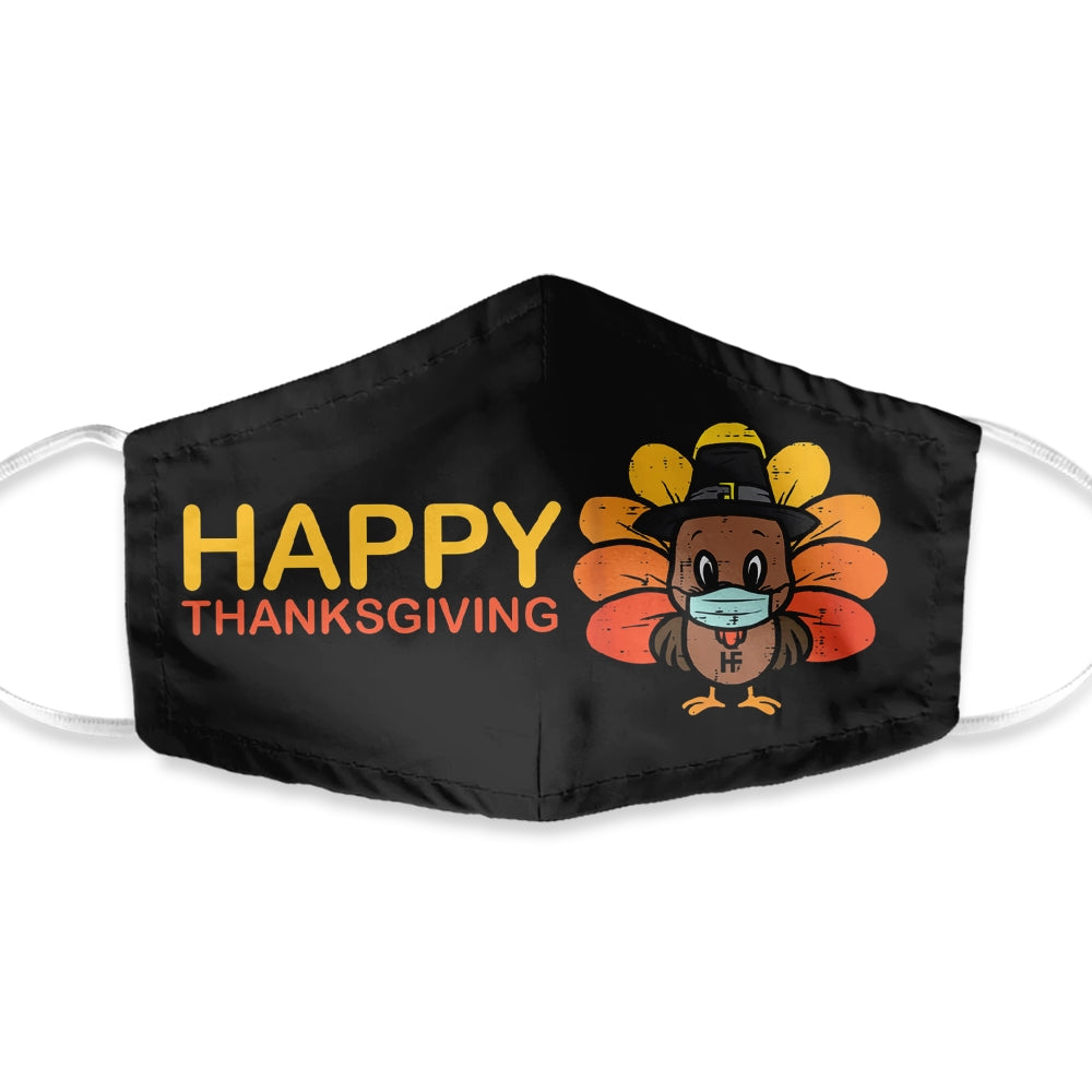 Happy Thanksgiving Masked Turkey EZ05 1010 Face Mask