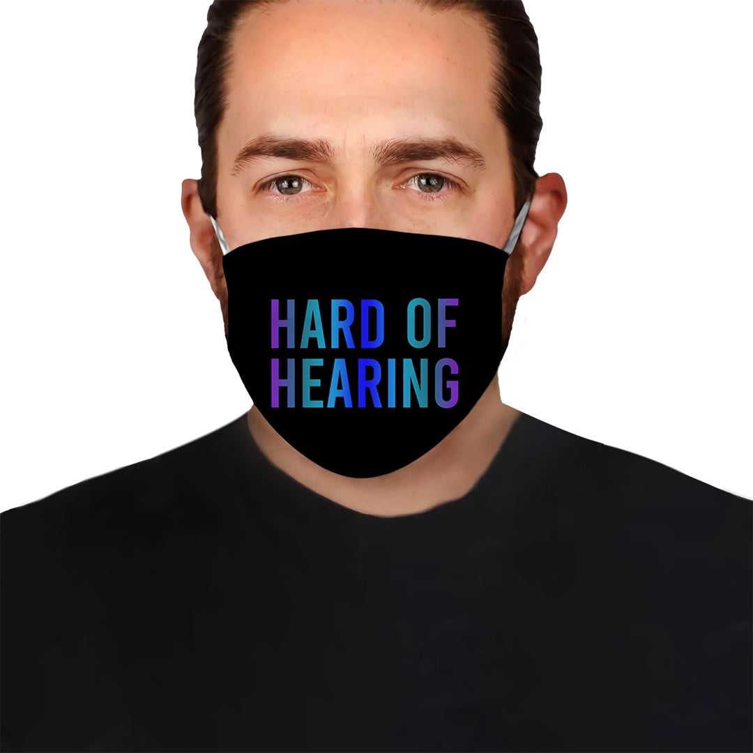 Hard Of Hearing Deaf Awareness EZ10 0705 Face Mask 2 - Hyperfavor