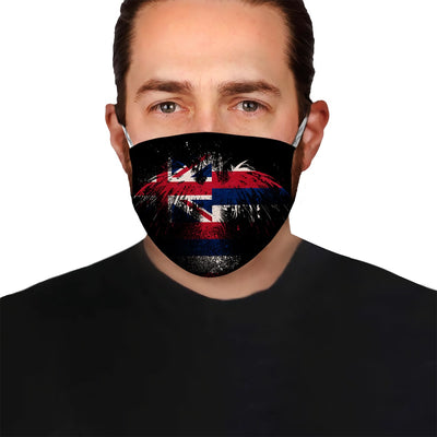 Hawaii Flag Eagle EZ10 1804 Face Mask - Hyperfavor