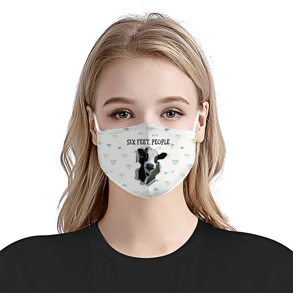 Heifer Six Feet People EZ16 2207 Face Mask - Hyperfavor
