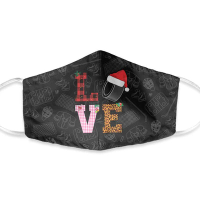 Hockey Christmas Xmas 02 EZ01 1210 Face Mask - Hyperfavor