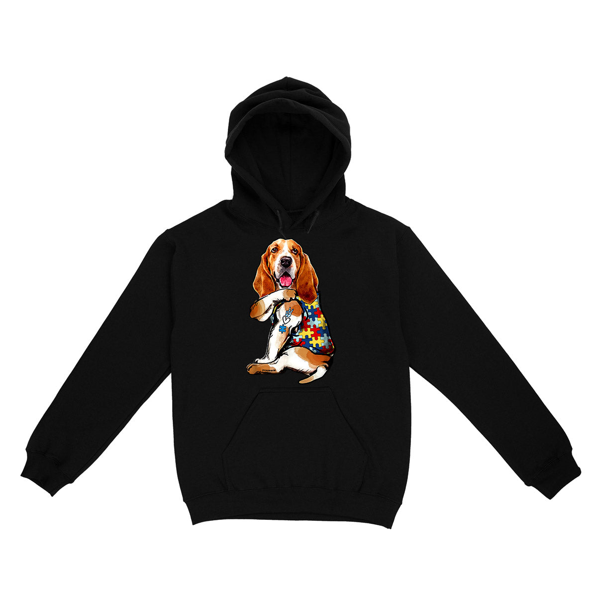 Basset Hound Autism Awareness Peace Love EZ06 0504 Hoodie