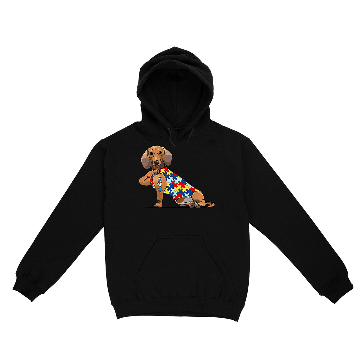 Dachshund Autism Awareness Peace Love EZ06 0504 Hoodie
