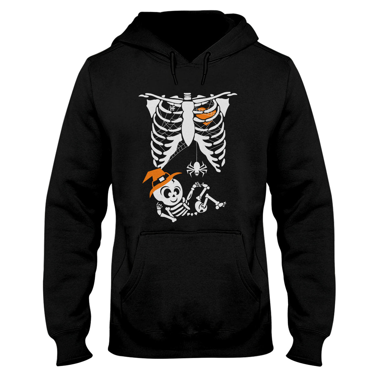 Maternity Witch Baby Bump Skeleton Cute Pregnancy Halloween EZ05 1409 Hoodie